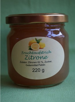 Fruchtaufstrich Zitrone