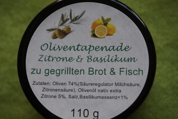 Oliventapenade mit Zitrone und Basilikum