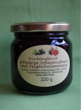 Fruchtaufstrich schwarze Johannisbeere mit Feigenbalsamessig