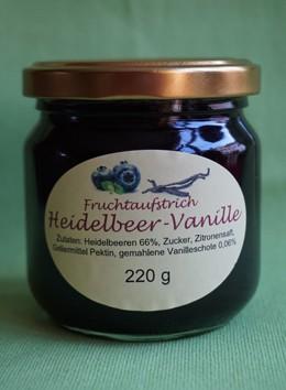 Fruchtaufstrich Heidelbeer-Vanille
