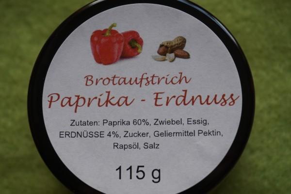 Brotaufstrich Paprika Erdnuss