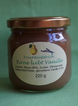 Fruchtaufstrich Birne liebt Vanille