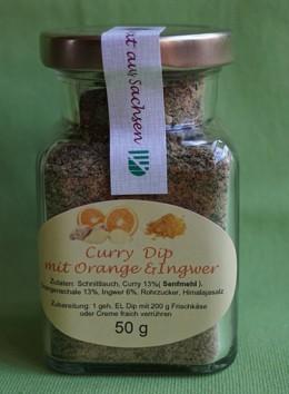 Curry -Dip mit Orange und Ingwer (Trockenprodukt)