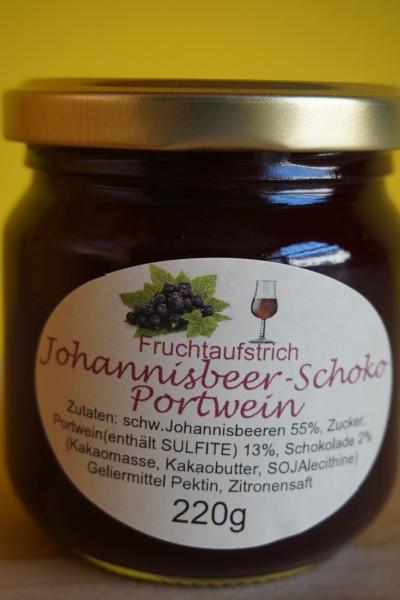 Fruchtaufstrich Johannisbeer Portwein Schoko
