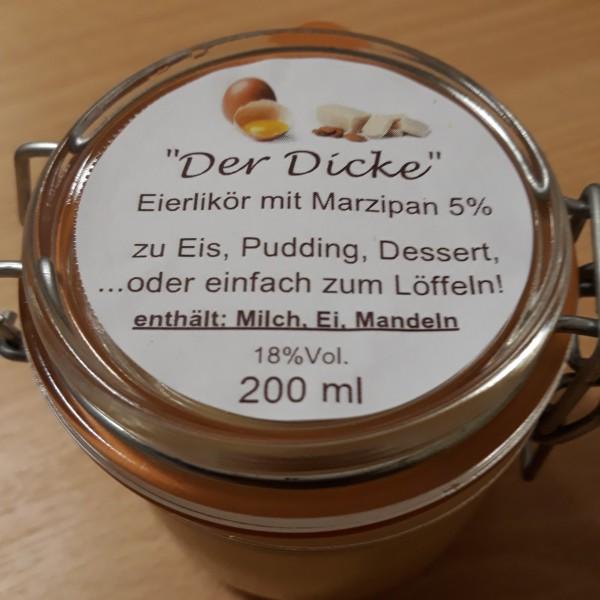 """Eierlikör zum Löffeln """"Der Dicke"""" mit Marzipan"""