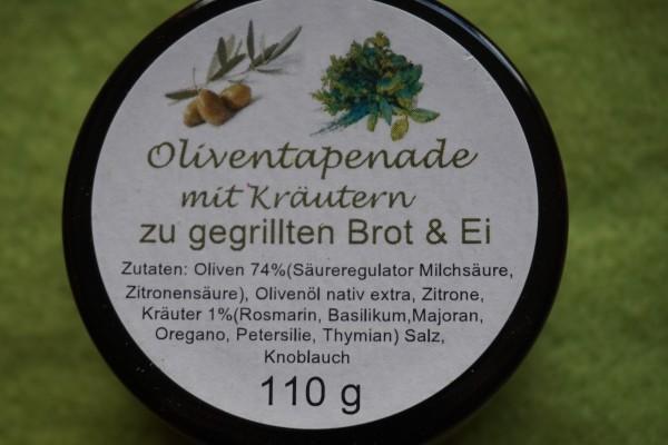 Oliventapenade mit Kräutern