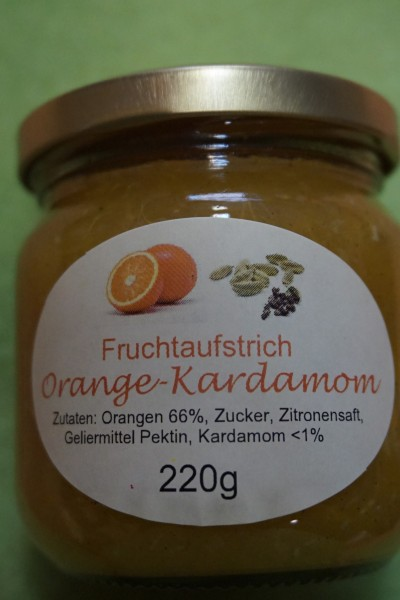 Fruchtaufstrich Orange Kardamom