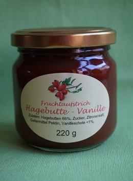 Fruchtaufstrich Hagebutte-Vanille