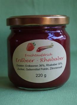 Fruchtaufstrich Erdbeer-Rhabarber
