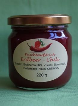 Fruchtaufstrich Erdbeer-Chili