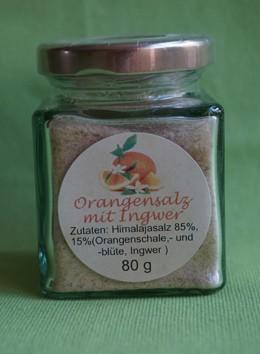 Orangensalz mit Ingwer